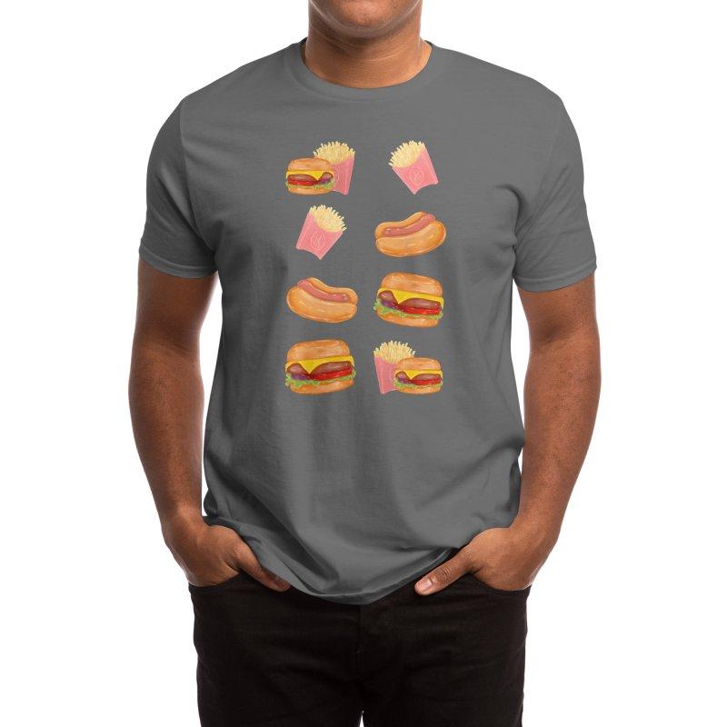 Burgers Fries and Hotdogs Men's T-Shirt by Aidadaism