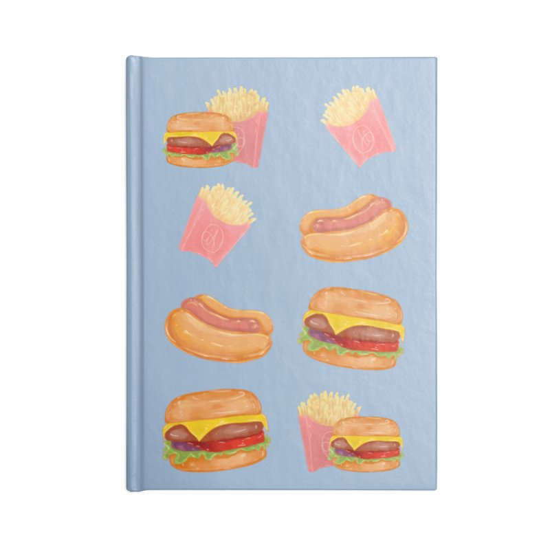 Burgers Fries and Hotdogs Accessories Notebook by Aidadaism