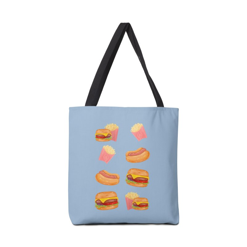 Burgers Fries and Hotdogs Accessories Bag by Aidadaism
