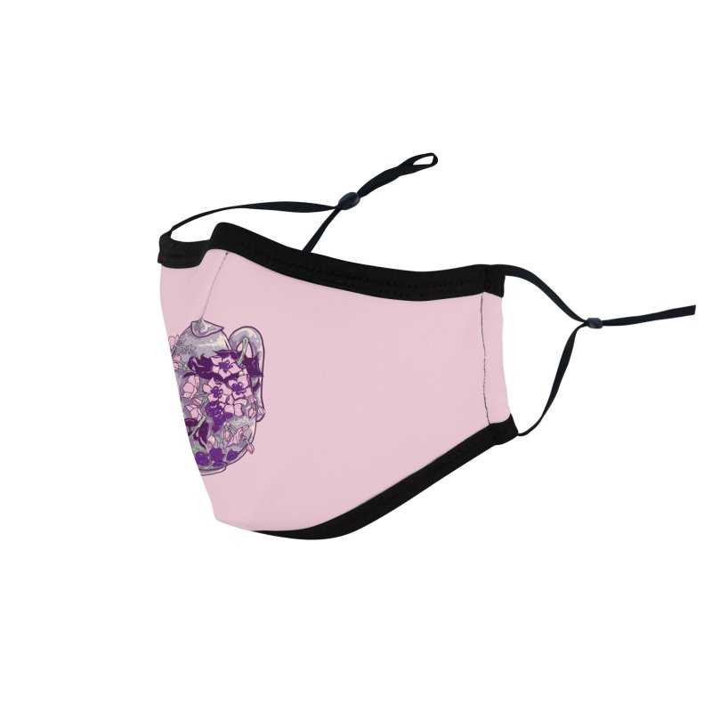 Lavender Tea Pot in Dusty Rose Accessories Face Mask by Aidadaism