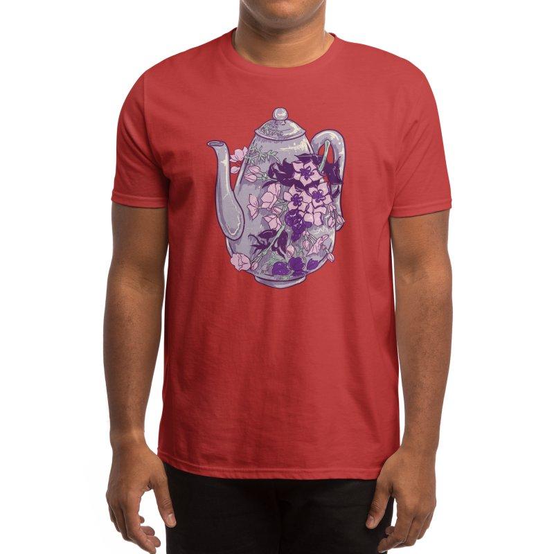 Lavender Tea Pot in Dusty Rose Men's T-Shirt by Aidadaism