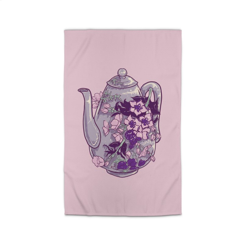 Lavender Tea Pot in Dusty Rose Home Rug by Aidadaism