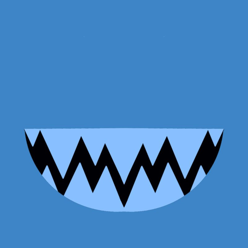 BLUE TEETHY Kids T-Shirt by Aidadaism