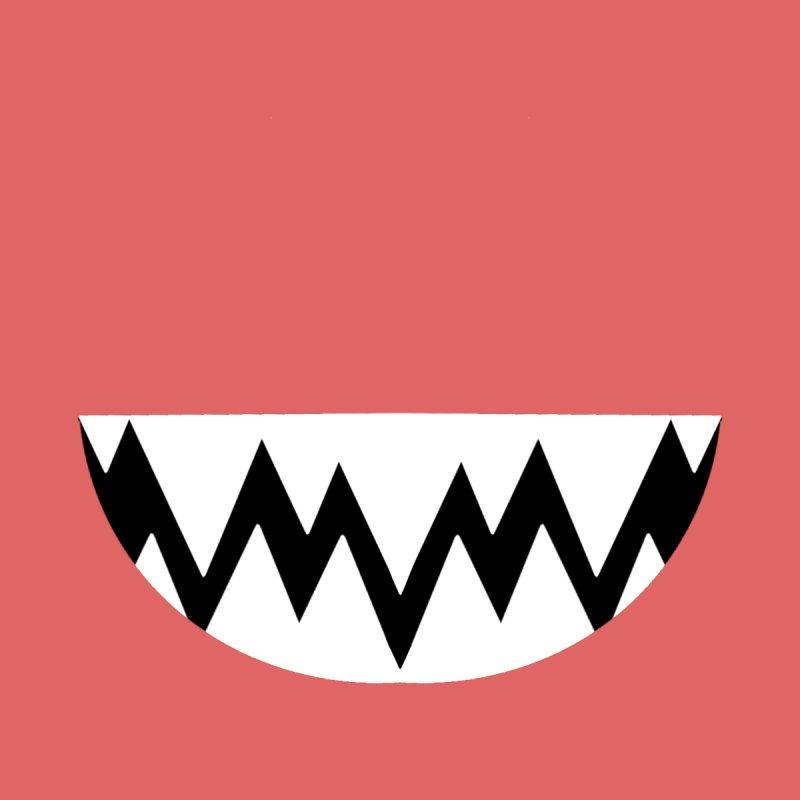 White Teethy in Red Kids T-Shirt by Aidadaism