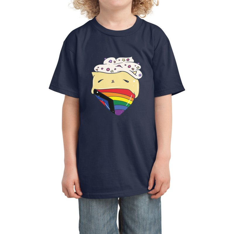 Social Justice LGBTQIA Pride Flag in Blue Kids T-Shirt by Aidadaism