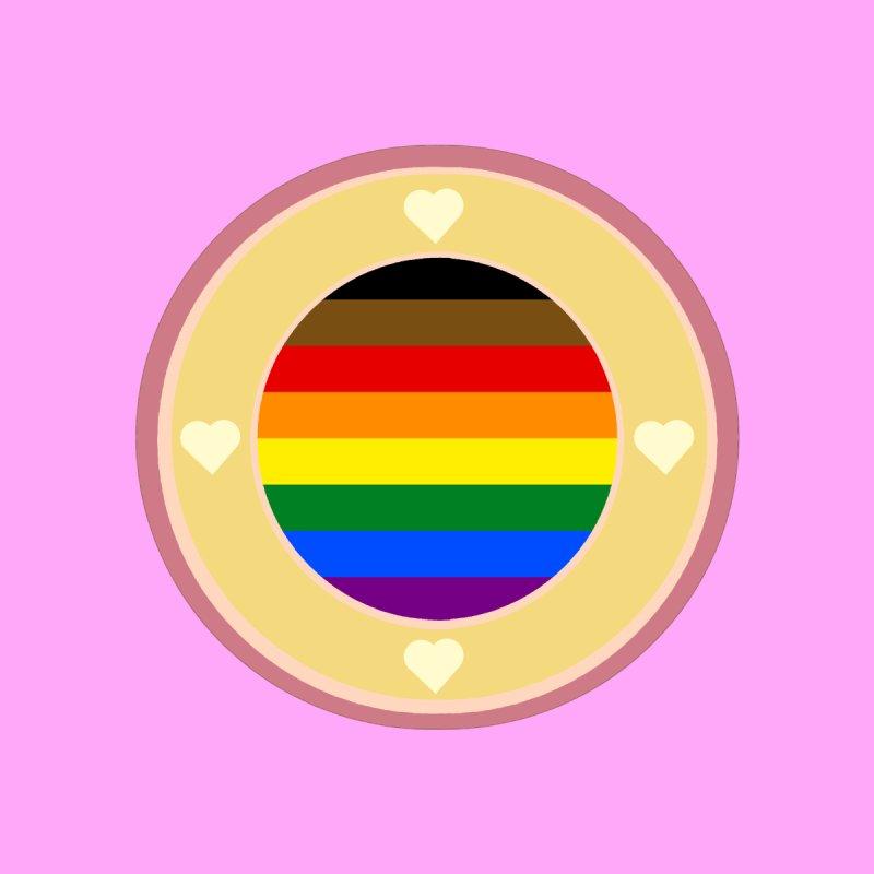 POC LGBT Pride Flag in Pink Men's T-Shirt by Aidadaism
