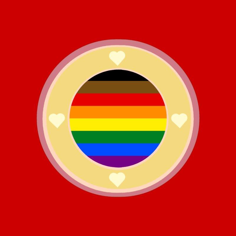 POC LGBT Pride Flag in Red Men's T-Shirt by Aidadaism