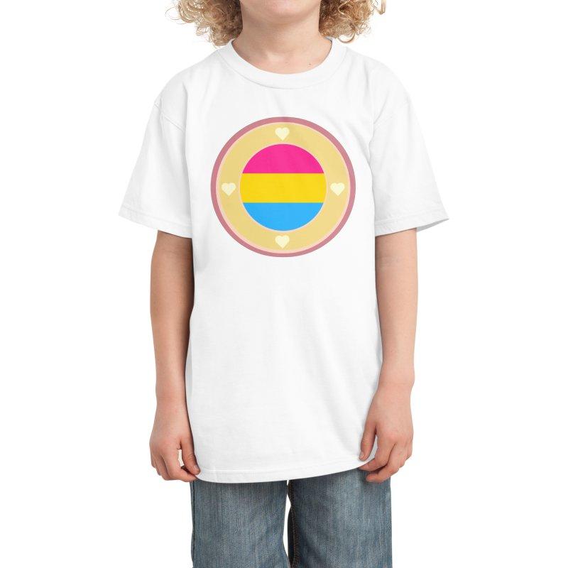 Pansexual Pride Flag in Black Kids T-Shirt by Aidadaism