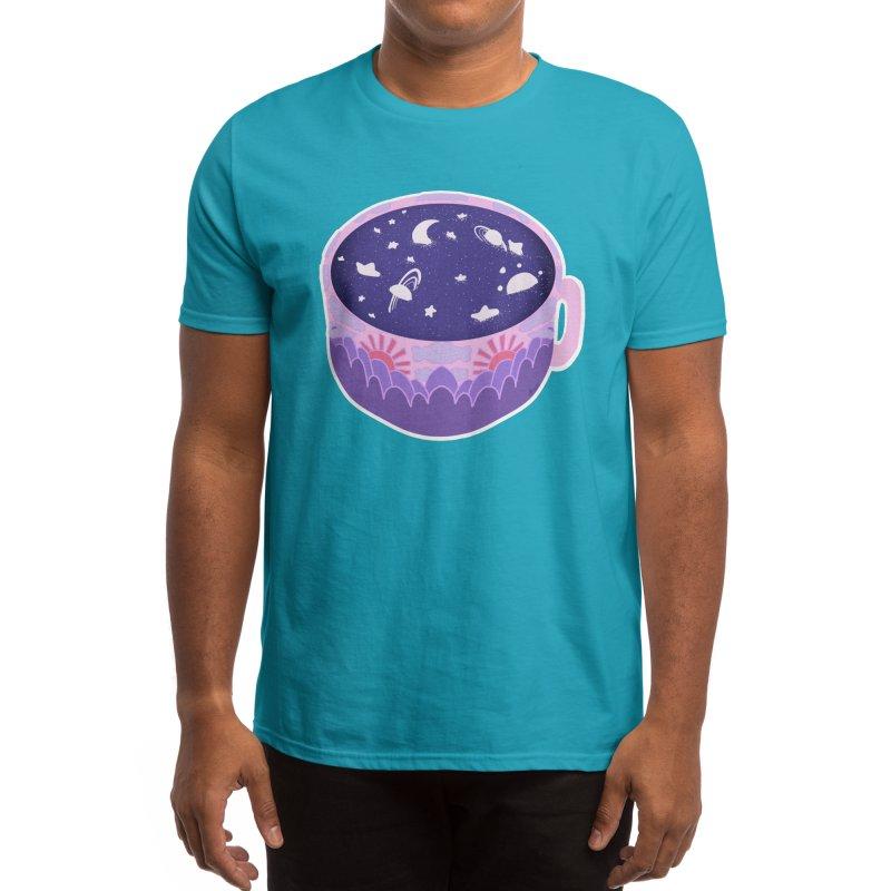 Galaxy in a Cup ( Blue ) Men's T-Shirt by Aidadaism