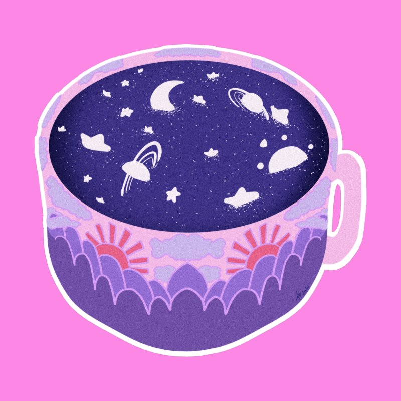 Galaxy in a Cup ( Pink ) Men's T-Shirt by Aidadaism
