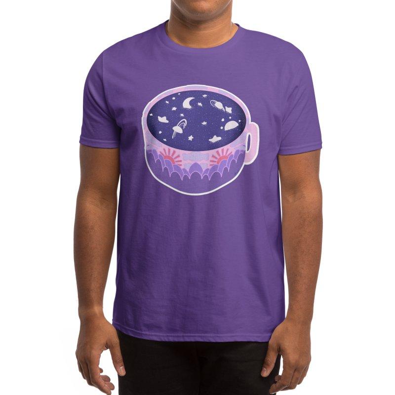 Galaxy in a Cup ( Purple ) Men's T-Shirt by Aidadaism