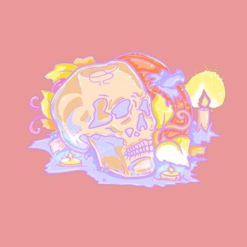 Design for Pastel Halloween Skull ( Red )