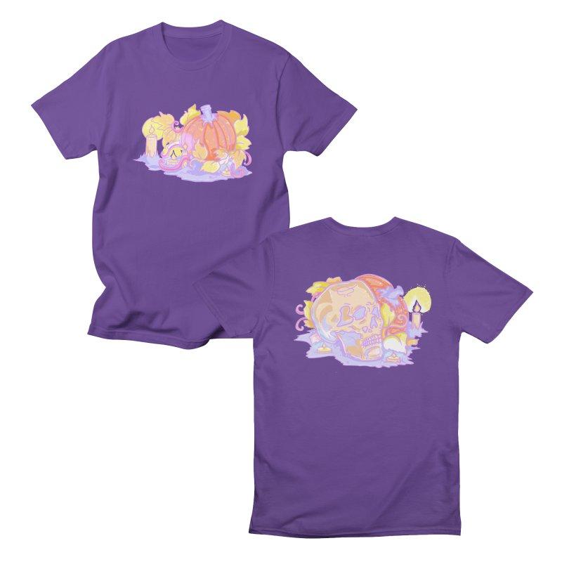 Pastel Pumpkin Patch ( Purple ) Men's T-Shirt by Aidadaism