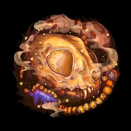 Design for Cat Skull ( Black )
