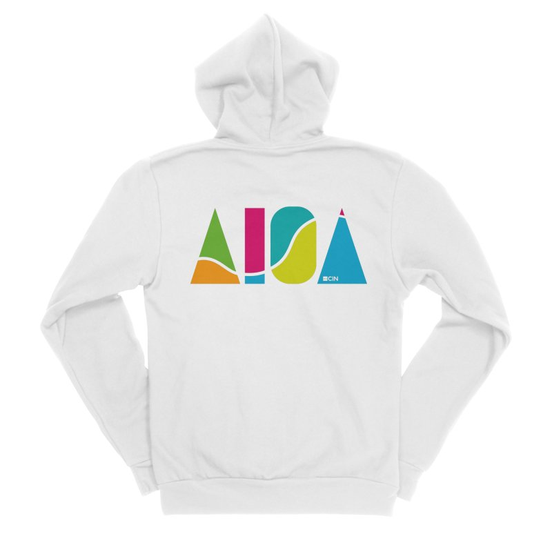 True Colors Women's Sponge Fleece Zip-Up Hoody by AIGA Cincinnati Merch