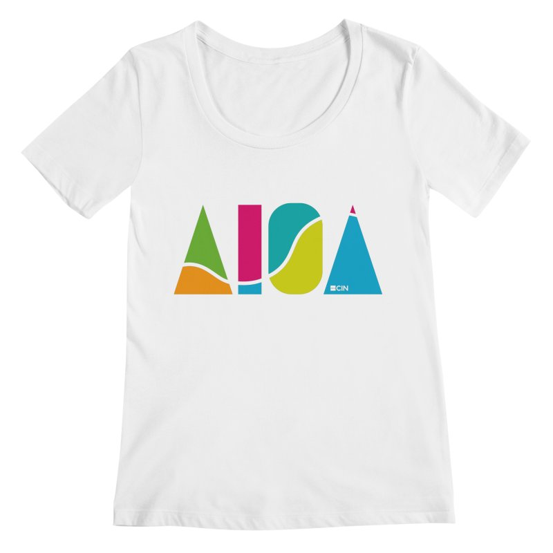 True Colors Women's Regular Scoop Neck by AIGA Cincinnati Merch