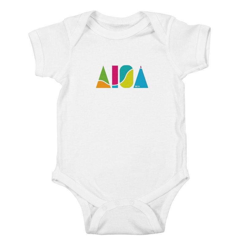 True Colors Kids Baby Bodysuit by AIGA Cincinnati Merch