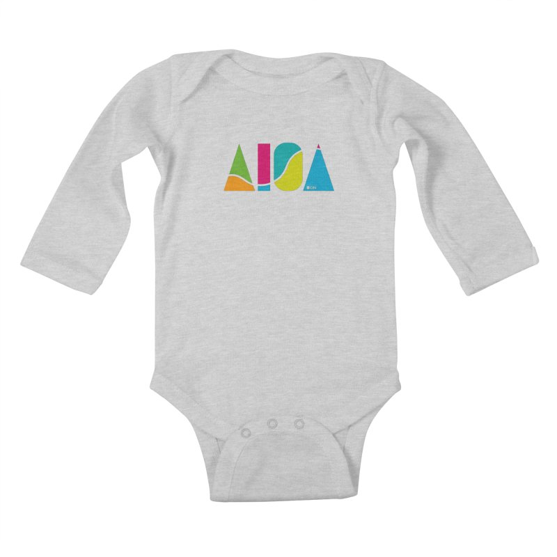 True Colors Kids Baby Longsleeve Bodysuit by AIGA Cincinnati Merch