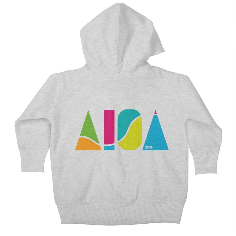 True Colors Kids Baby Zip-Up Hoody by AIGA Cincinnati Merch