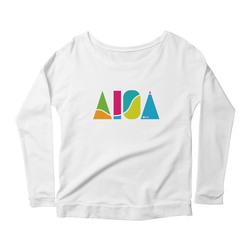 True Colors Women's Scoop Neck Longsleeve T-Shirt by AIGA Cincinnati Merch