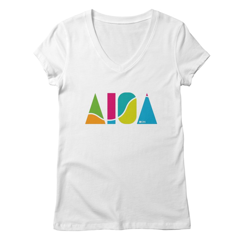 True Colors Women's Regular V-Neck by AIGA Cincinnati Merch