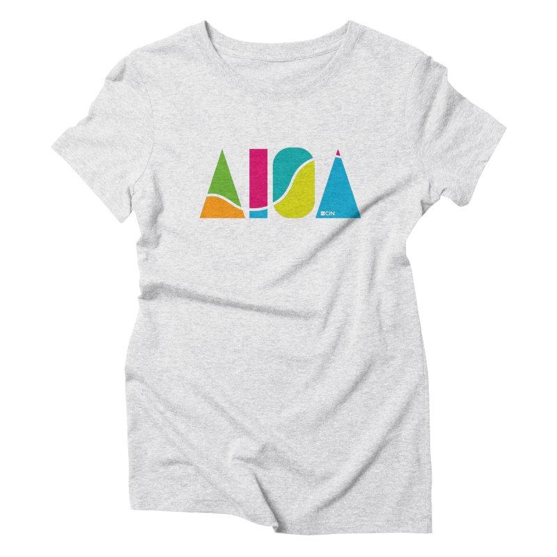 True Colors Women's Triblend T-Shirt by AIGA Cincinnati Merch