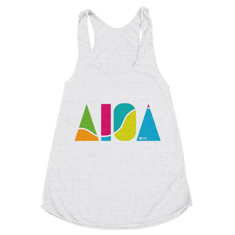 True Colors Women's Racerback Triblend Tank by AIGA Cincinnati Merch