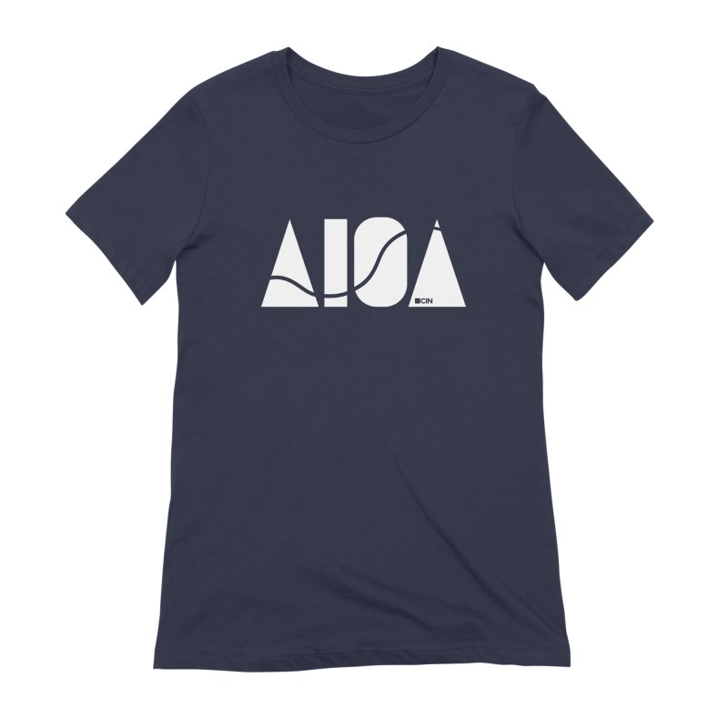 River Town Women's Extra Soft T-Shirt by AIGA Cincinnati Merch