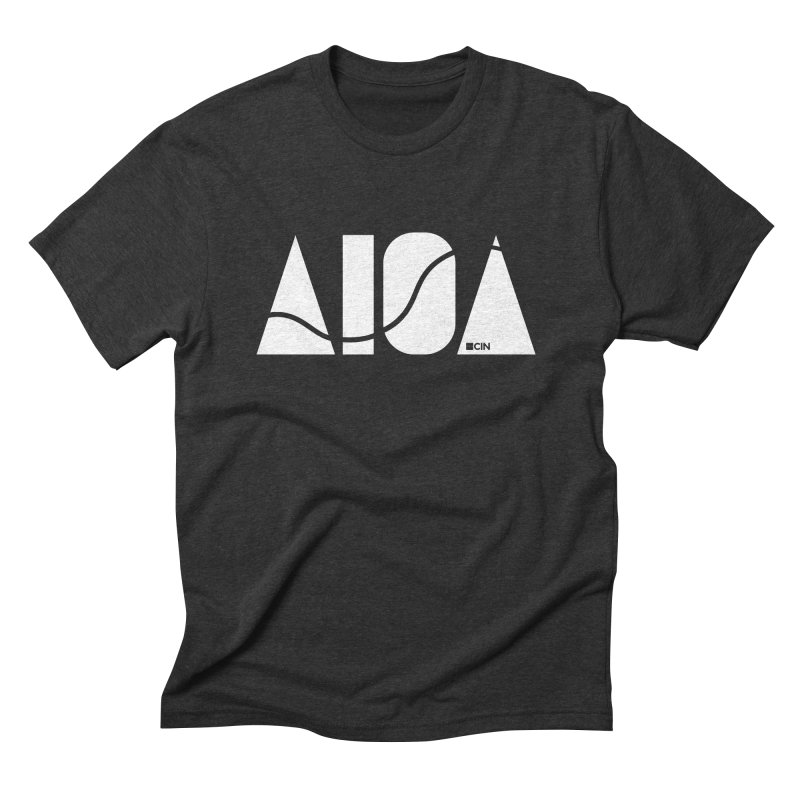 River Town Men's Triblend T-Shirt by AIGA Cincinnati Merch