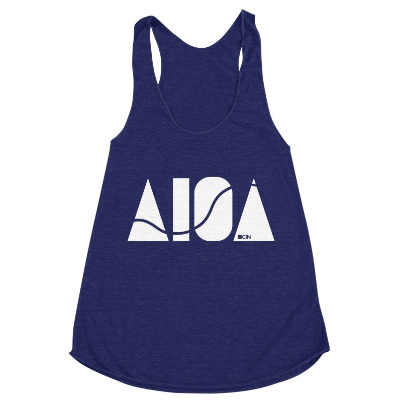 River Town Women's Racerback Triblend Tank by AIGA Cincinnati Merch