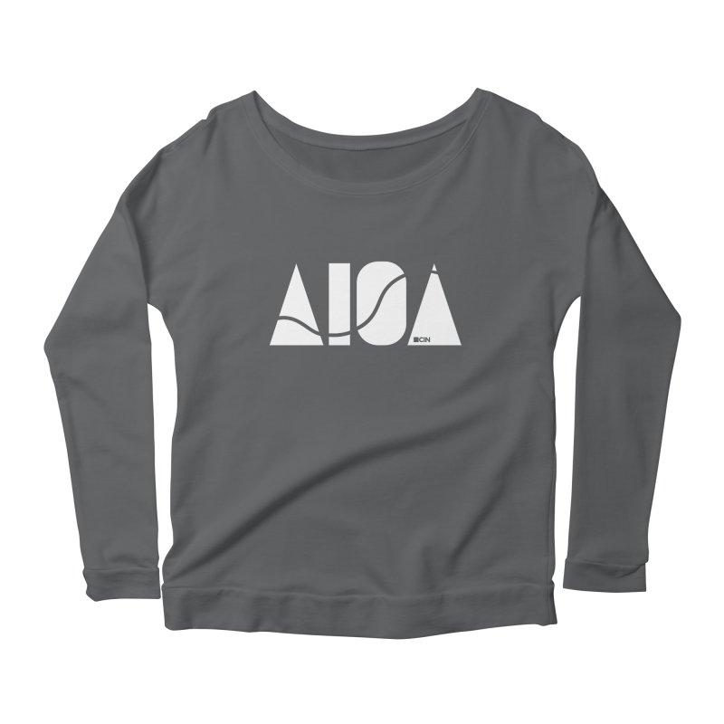 River Town Women's Scoop Neck Longsleeve T-Shirt by AIGA Cincinnati Merch