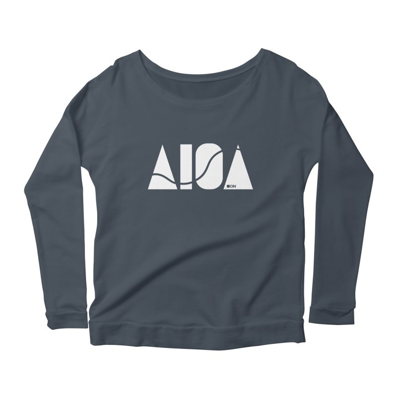 River Town Women's Scoop Neck Longsleeve T-Shirt by AIGA Cincinnati Merch
