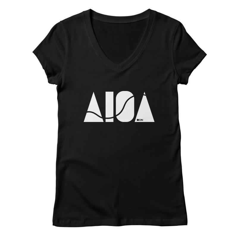 River Town Women's V-Neck by AIGA Cincinnati Merch