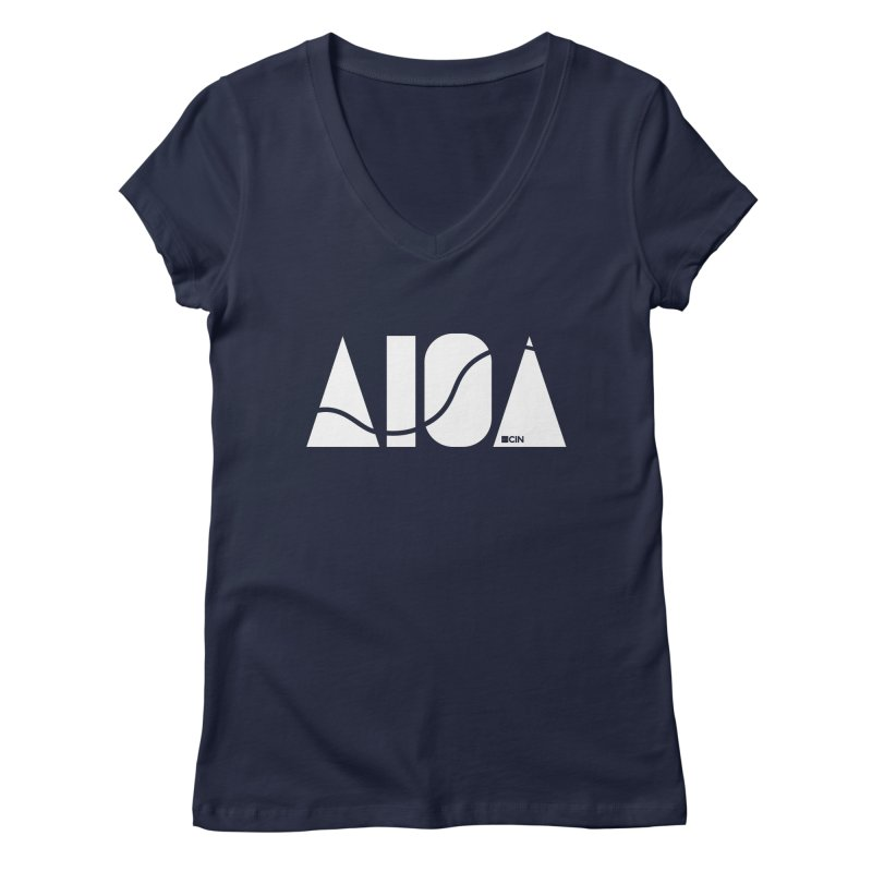 River Town Women's Regular V-Neck by AIGA Cincinnati Merch