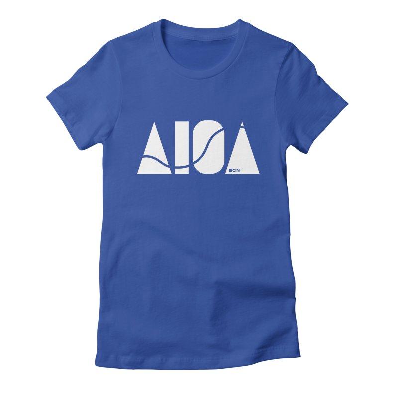River Town Women's Fitted T-Shirt by AIGA Cincinnati Merch