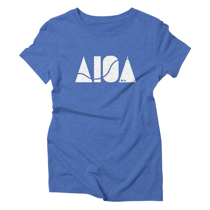 River Town Women's Triblend T-Shirt by AIGA Cincinnati Merch