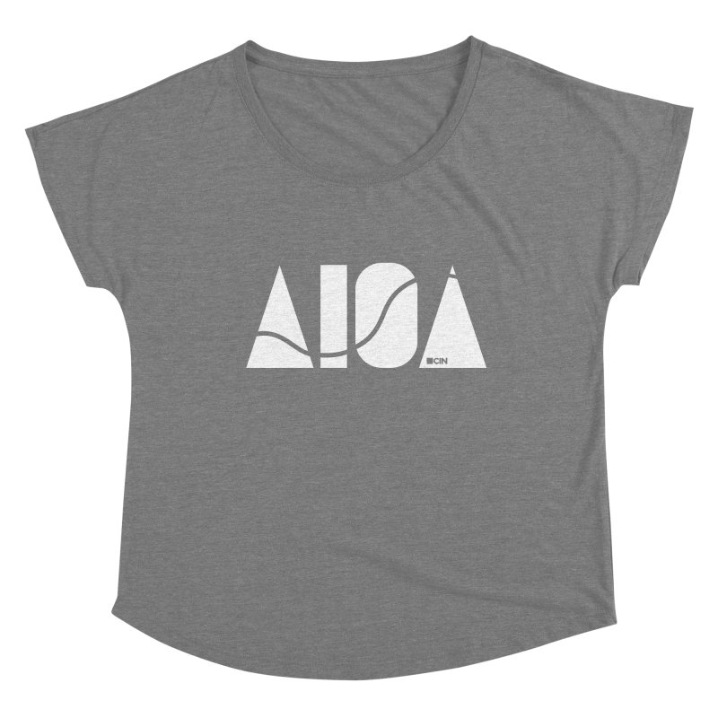 River Town Women's Scoop Neck by AIGA Cincinnati Merch