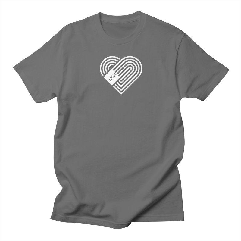 Design with Heart Men's T-Shirt by AIGA Upstate New York's Artist Shop