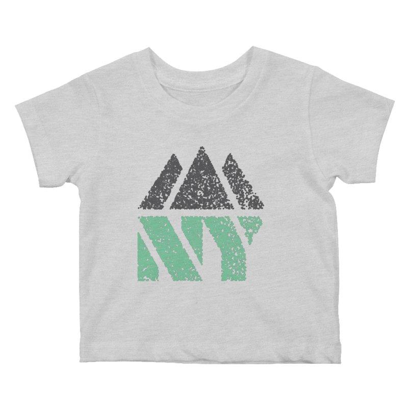 NY MTN Kids Baby T-Shirt by AIGA Upstate New York's Artist Shop
