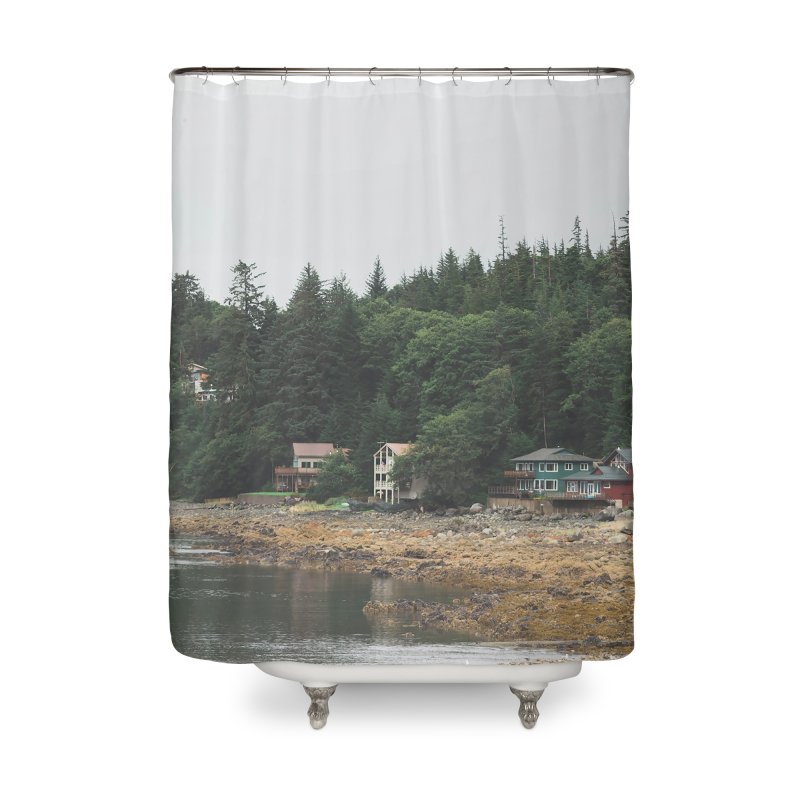 Auke Beach Home Shower Curtain by AirStory's Shop