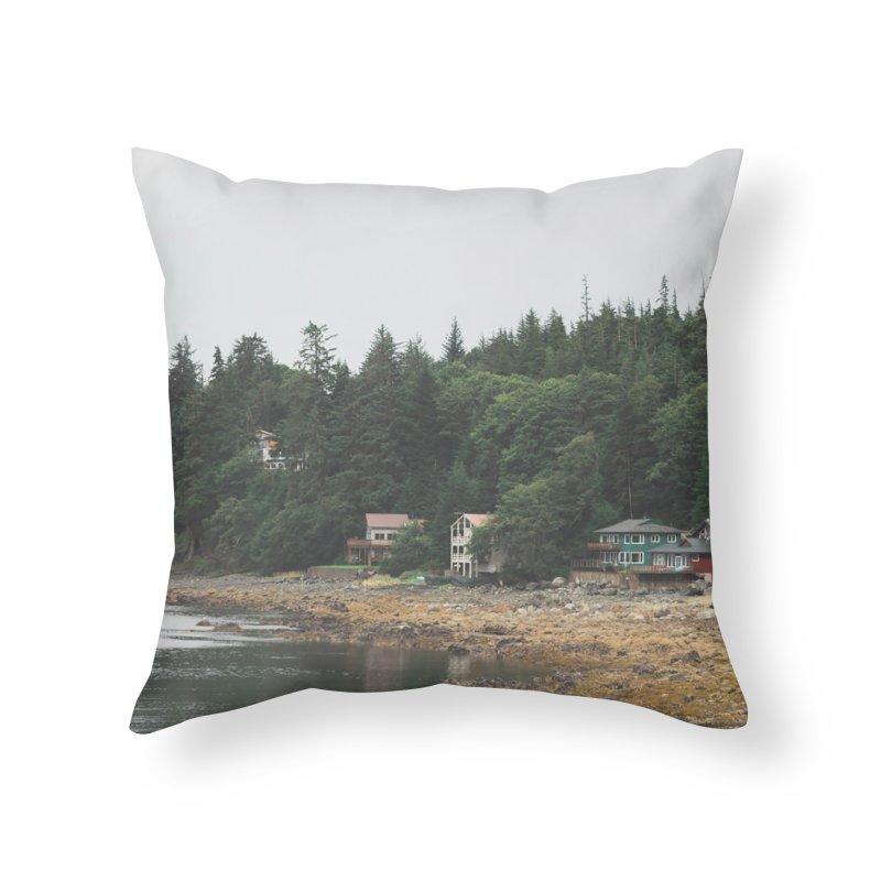 Auke Beach Home Throw Pillow by AirStory's Shop