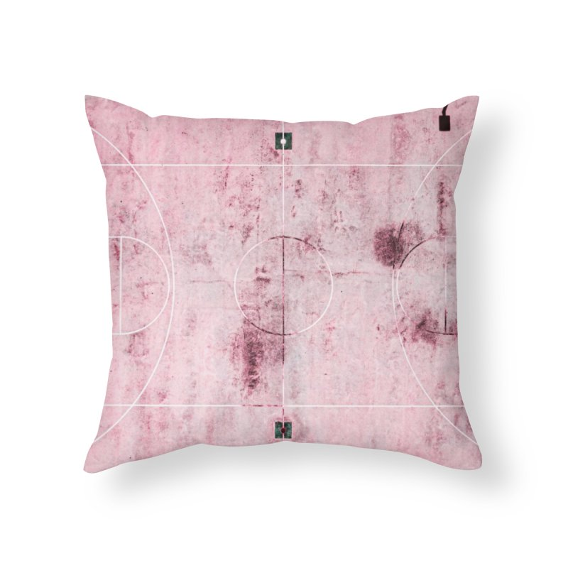 Pink Hoops Home Throw Pillow by AirStory's Shop