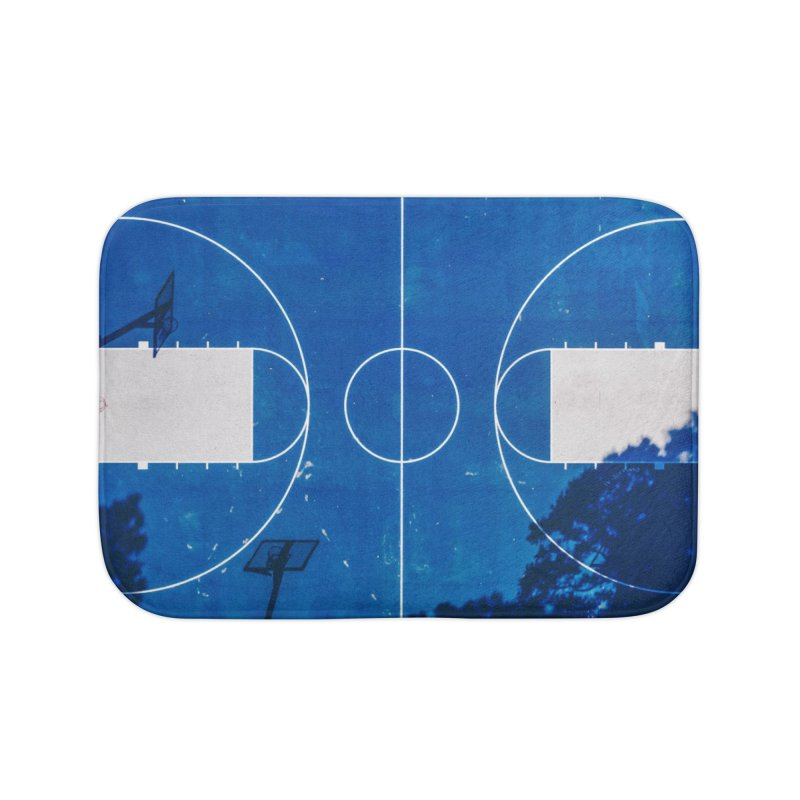 Blue Hoops Home Bath Mat by AirStory's Shop