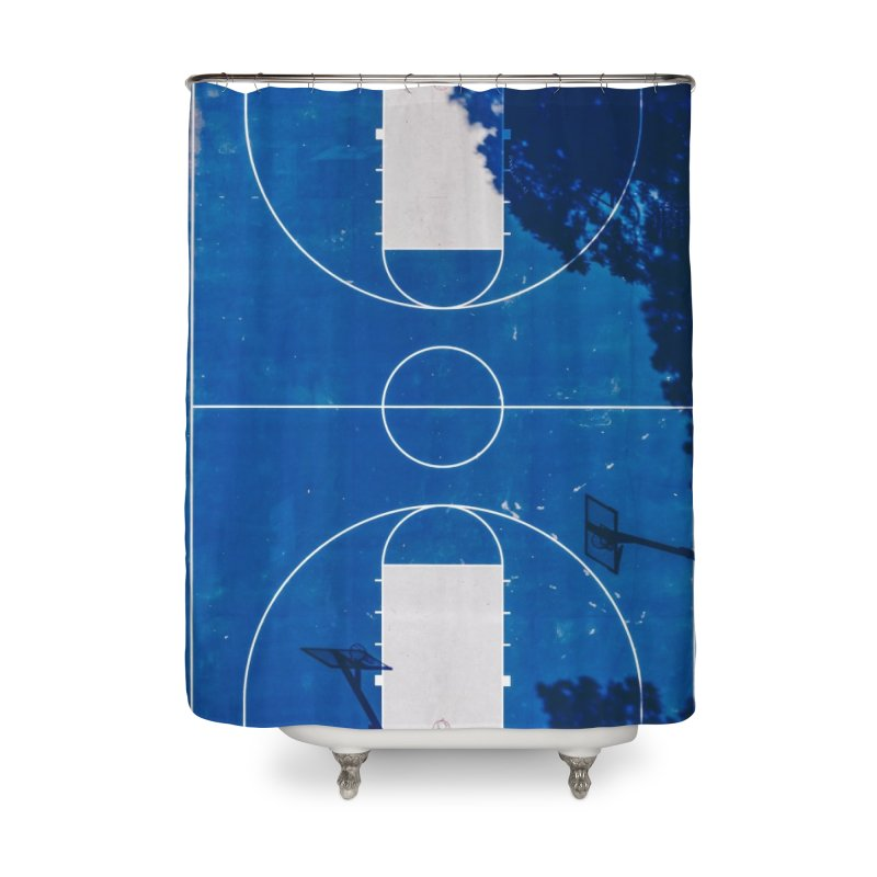 Blue Hoops Home Shower Curtain by AirStory's Shop