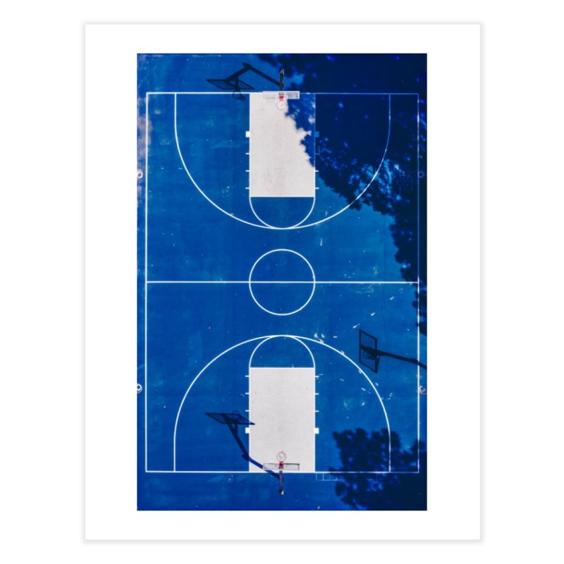 Blue Hoops Home Fine Art Print by AirStory's Shop