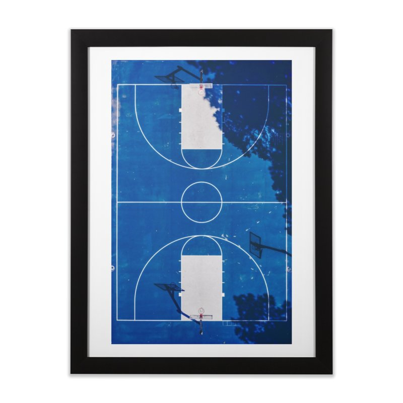 Blue Hoops Home Framed Fine Art Print by AirStory's Shop