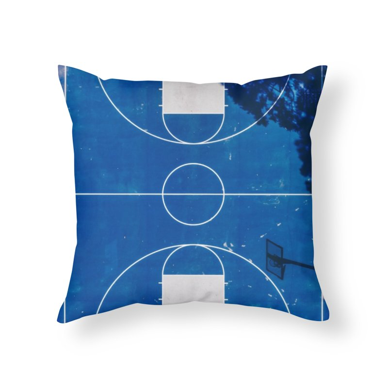 Blue Hoops Home Throw Pillow by AirStory's Shop