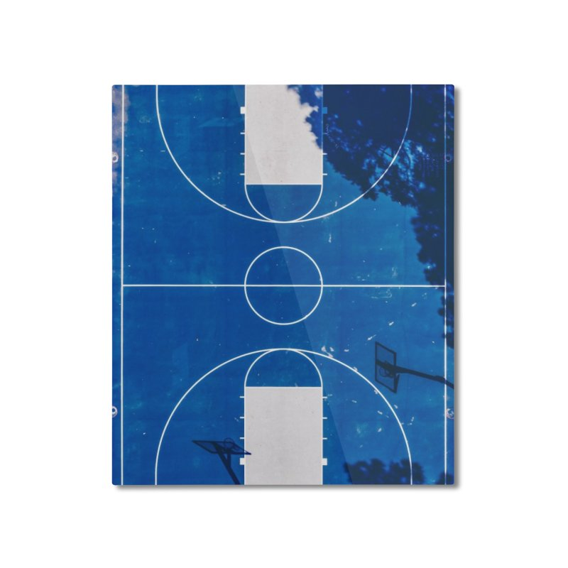 Blue Hoops Home Mounted Aluminum Print by AirStory's Shop