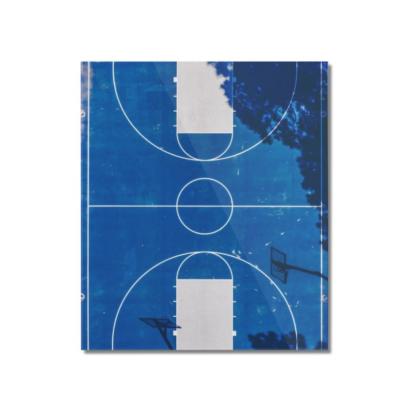 Blue Hoops Home Mounted Acrylic Print by AirStory's Shop