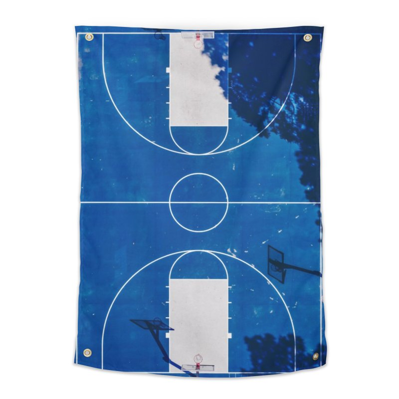 Blue Hoops Home Tapestry by AirStory's Shop